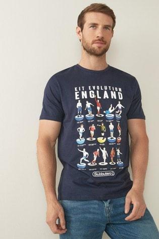 Navy Subbuteo Football T-Shirt