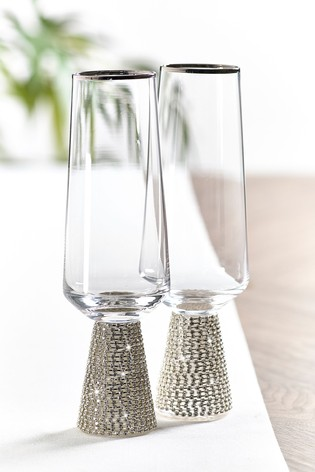 Harper Gem Set of 2 Flute Glasses