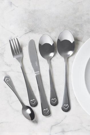 Heart 32pc Cutlery Set