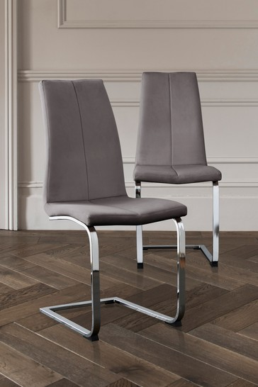 Set Of 2 Opus Cantilever Dining Chairs