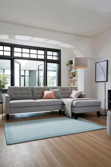 Albie Corner Chaise Sofa With Black Feet