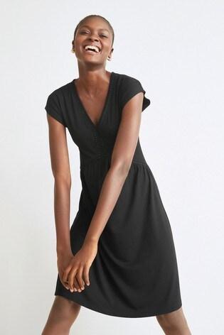 Black Lace Insert Dress