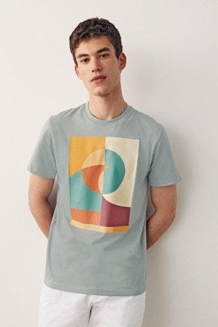 Blue Shapes Graphic T-Shirt