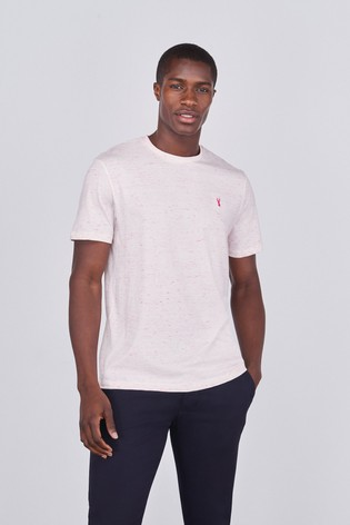 White Neon Regular Fit Stag T-Shirt