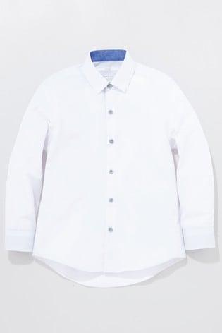 White Long Sleeve Smart Shirt (3-16yrs)