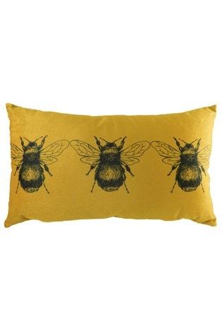 Evans Lichfield Gold Bee Cushion