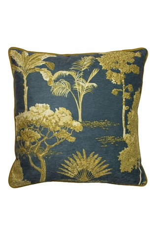 Arboretum Chenille Embroidered Cushion by Riva Home