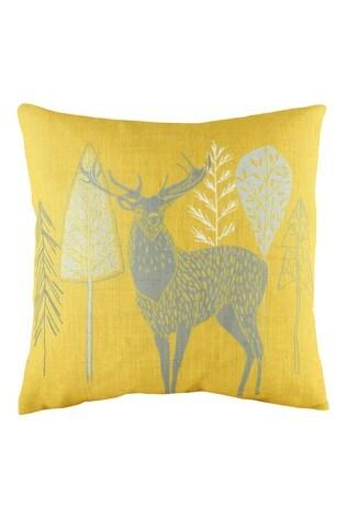 Scandi Stag Linen Mix Cushion by Evans Lichfield