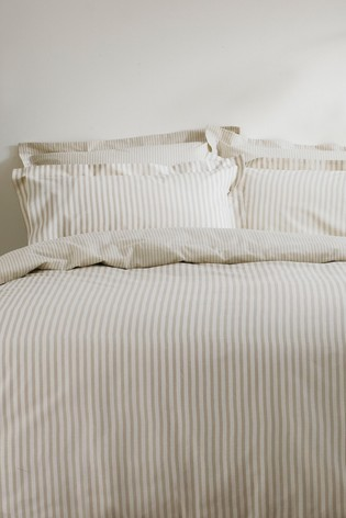 Riva Home Natural Hebden Duvet Cover and Pillowcase Set