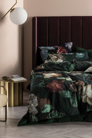 Linen House Green Winona Large Floral Duvet Cover and Pillowcase Set