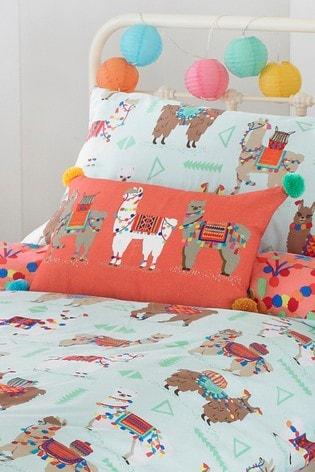 Furn Little Furn White Llamarama Cushion