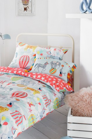 Vintage Circus Duvet Cover And Pillowcase Set by Riva Home