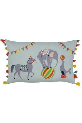 Vintage Circus Cushion by Riva Home