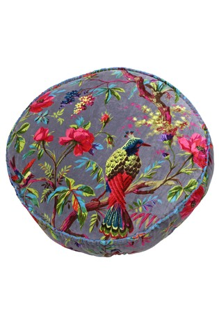 Paradise Round Velvet Cushion by Riva Home