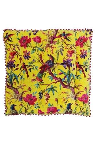 Riva Home Yellow Paradise Velvet Touch Cushion