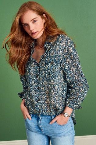 Morris & Co. at Next Floral Cotton Utility Shirt