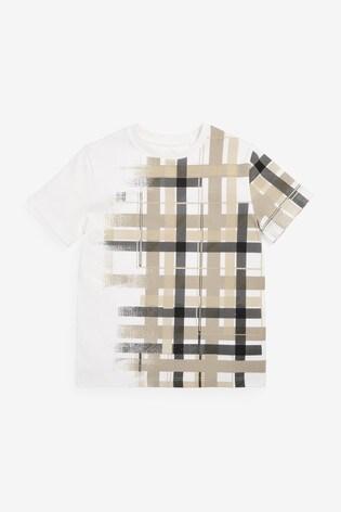 Neutral Disperse Check T-Shirt (3-16yrs)
