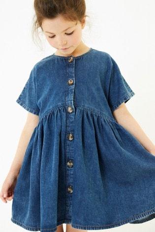 Mid Wash Relaxed Denim Dress (3-16yrs)
