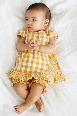 Ochre Embroidered Blouse And Shorts Set (0mths-2yrs)
