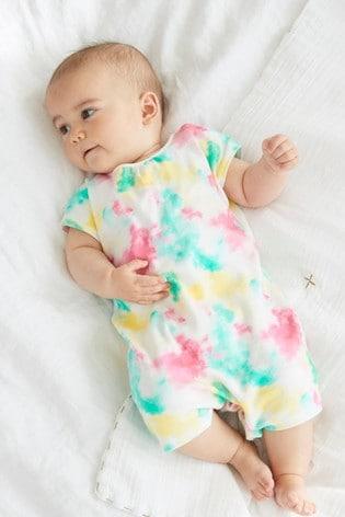 Bright Tie Dye Single Printed T-Shirt Romper (0mths-3yrs)
