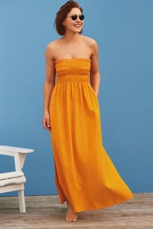 Ochre Emma Willis Bandeau Maxi Dress