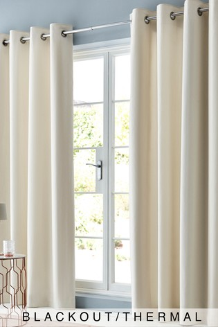 Ivory Cotton Eyelet Blackout/Thermal Curtains