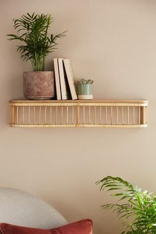 Single Rattan Shelf