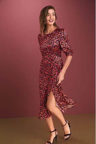 satin-midi-dress by next