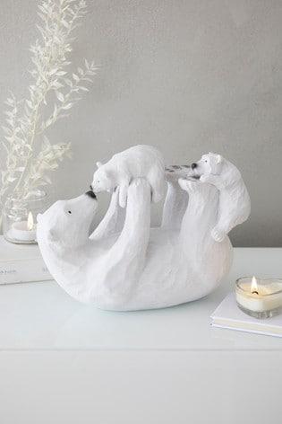 Polar Bear Family Sculpture by Next