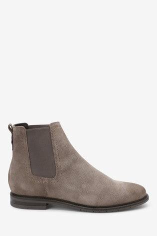 Signature Comfort Chelsea Stiefel in Grau