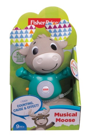 Fisher-Price Linkimals Musical Moose Interactive Baby Toy with Lights and Sounds