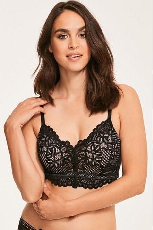 Figleaves Black Harper Lace Underwired Bralette