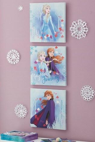 Set of 3 Disney™ Frozen 2 Glitter Print Canvases