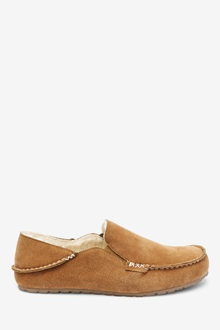Tan Signature Moccasin Slippers