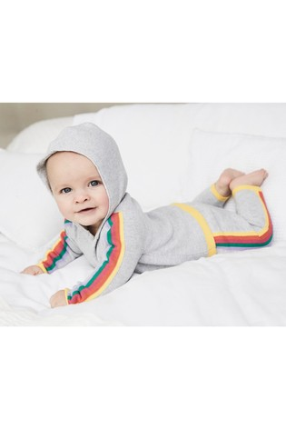 Mix/Madeleine Thompson Cotton Rainbow Knitted Hoody