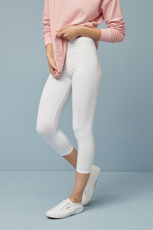 White Cropped Leggings