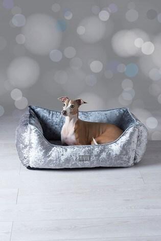Velour Dog Bed