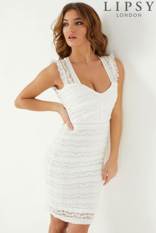 Buy Lipsy All Over Lace Sweetheart Bodycon Dress From The