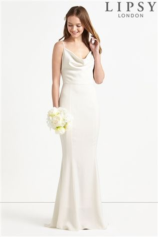Buy Lipsy Bridal Cowl Neck Satin Maxi Dress from the Next UK online shop