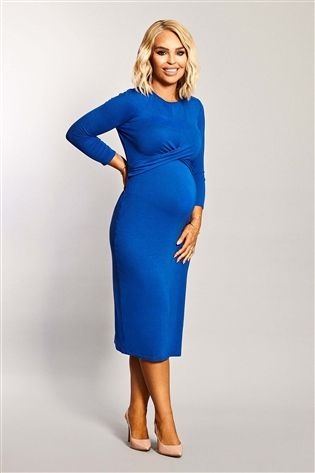 want that trend maternity twist front bodycon dress - Maternity Christmas Dress