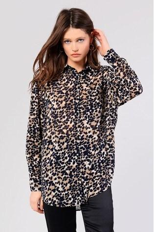 f32a2ba43f9dea Buy Glamorous Animal Print Oversized Shirt from Next Hong Kong
