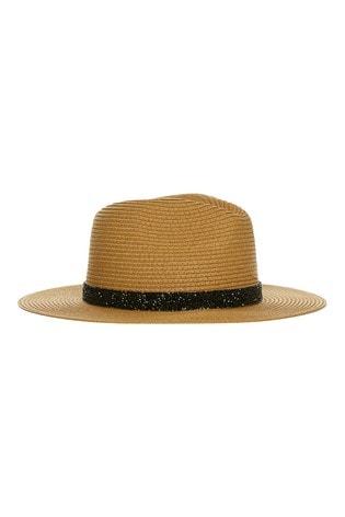 8c905e97482 Buy Alice Hannah Sparkle Band Straw Fedora Hat from Next Ireland
