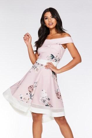 b18c9ffcd Buy Quiz Floral Wrap Front Dip Hem Dress from Next Georgia