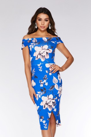 d34391ef5ec7 Buy Quiz Floral Bardot Midi Dress from Next India
