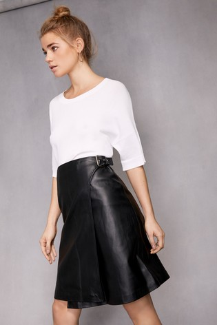 super popular 310b7 2a466 Buy Selected Femme Leather Wrap Skirt from Next Germany