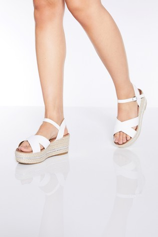 quiz-faux-leather-chain-detail-wedge-sandals by next