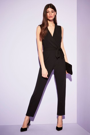 outlet boutique huge selection of cheapest price Lipsy Sleeveless Wrap Jumpsuit
