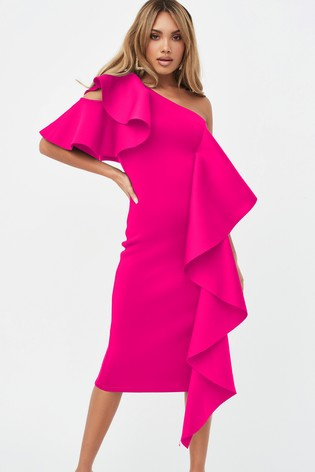 Lavish Alice Scuba Midi Dress