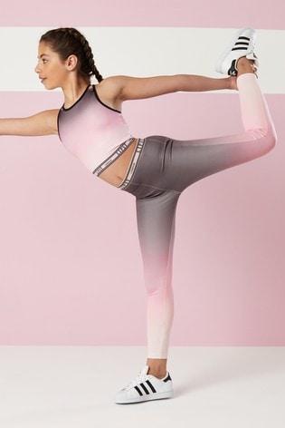 Lipsy Girl Pink Dual Tone Active Leggings
