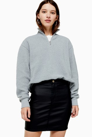 Topshop Coated Joni Mini Skirt